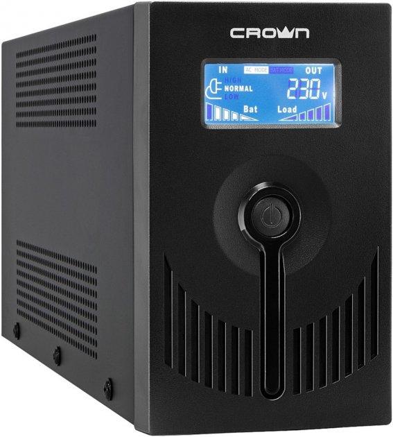 ДБЖ Crown CMU-SP650Euro, LCD, USB, metal case - зображення 1