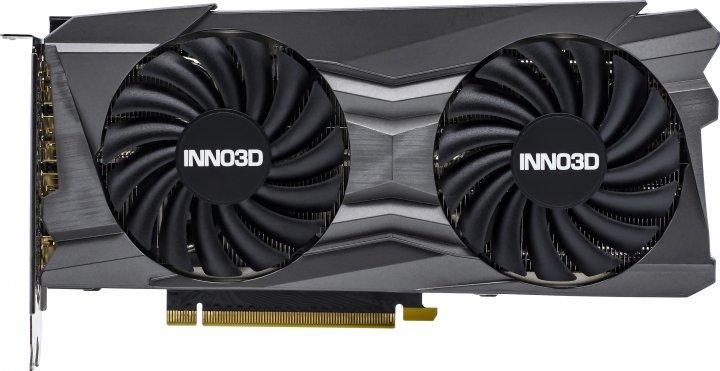 INNO3D PCI-Ex GeForce RTX 3070 Twin X2 OC 8GB GDDR6 (256bit) (1740/14000) (HDMI, 3 x DisplayPort) (N30702-08D6X-1710VA32L) - зображення 1