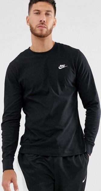 Футболка с длинными рукавами Nike M Nsw Club Tee - Ls AR5193-010 M Черная (191888647026) - изображение 1