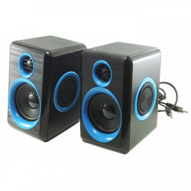 Комп'ютерні колонки акустика 2.0 USB FnT FT-165 Сині (44599) - зображення 1