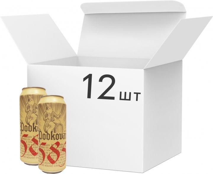 Упаковка пива Podkovan Lezak світле фільтроване 4.7% 0.5 л х 12 шт. (8594170340439) - зображення 1