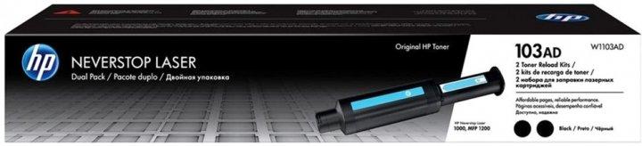Тонер HP No.103AD Neverstop Kit 2-Pack 1200/1000 (W1103AD) - изображение 1