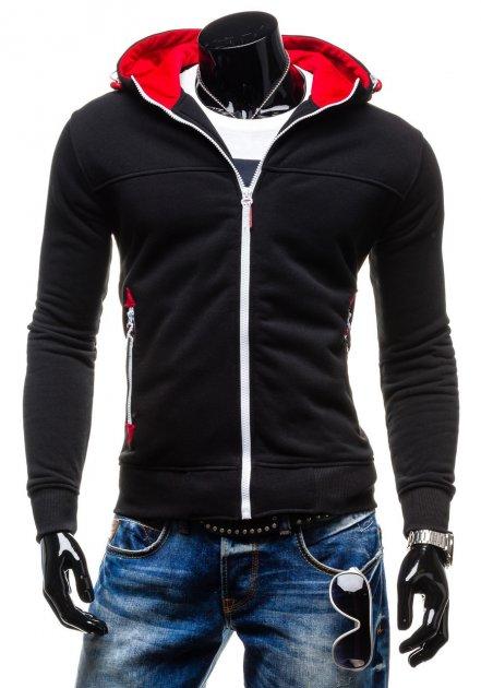 Толстовка LikeS утепленная с капюшоном XL Черная (3013) - изображение 1