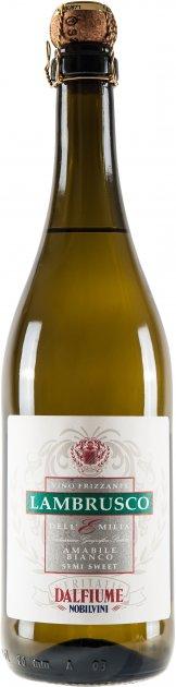 Вино игристое Dalfiume LAMBRUSCO DELL'EMILIA IGP белое полу-сладкое 0.75 л 9% (8008501000460) - изображение 1