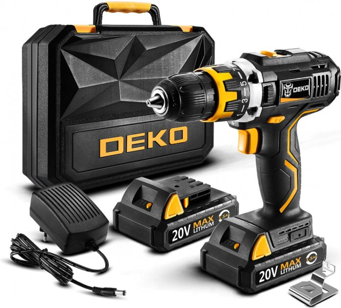Аккумуляторный шуруповёрт Deko GCD20DU2-S6 (LP13521)