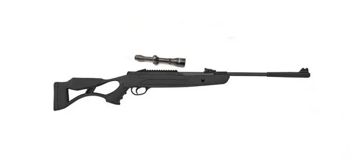 Пневматична гвинтівка Hatsan AirTact PD з посиленою газовою пружиною + ВП Sniper 3-9x40 AR + кулі - зображення 1