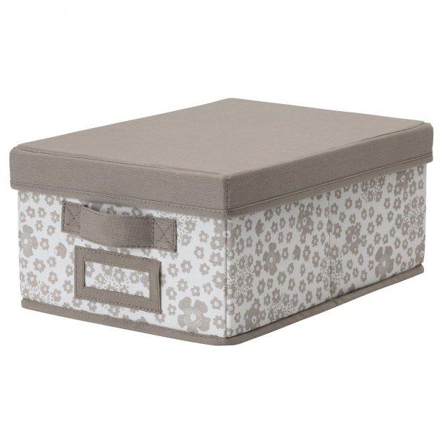 Коробка IKEA (ІКЕА) STORSTABBE 25х35х15см бежева (704.103.67) - зображення 1