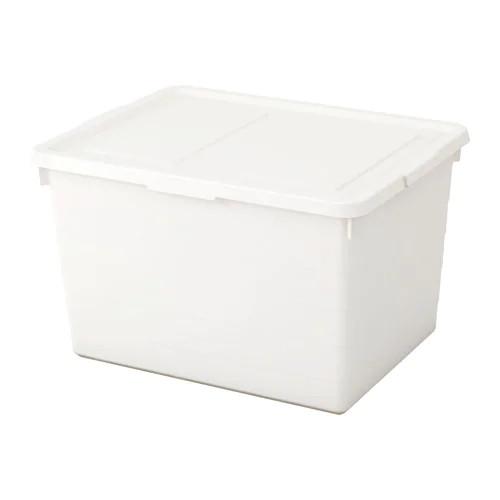 Коробка з кришкою IKEA (ІКЕА) SOCKERBIT 38х51х30см біла (803.160.67) - зображення 1