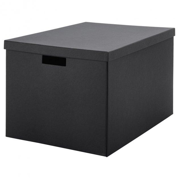 Коробка с крышкой IKEA (ИКЕА) TJENA 35x50x30см черная (103.743.48) - зображення 1