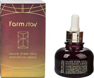 Сыворотка для лица FarmStay Grape Stem Cell Whitening Ample Ампульная Осветляющая с виноградом 30 мл (8809317284897)
