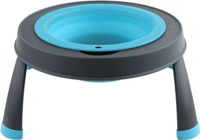 Миска одинарна на складаний підставці - велика для собак Dexas Single Elevated Feeder-LG 960 мл Блакитна (PW1404322194) (0084297309114)