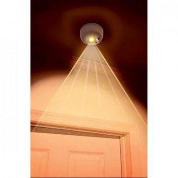 Фонарь LED светильник автономный с датчиком движения 4*AA UKC белый
