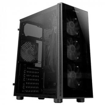 Корпус Antec NX210 Gaming, MidT, 2*USB2.0, 1*USB3.0, 4*120мм ARGB,скло(бік.панель),без БЖ,чорний