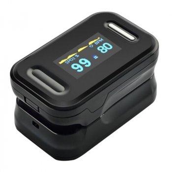 Пульсоксиметр YONKER YK-81С на палец оксиметр для измерения сатурации, пульса и плетизмографического анализа сосудов с инструкцией, сертифицирован в Украине, FDA США и Европе