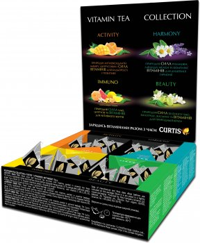 """Чайный набор Curtis """"Vitamin Tea Collection"""" 20 пирамидок х 1.8 г (4823063709774)"""