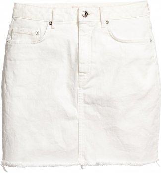 Юбка джинсовая H&M 548961612 Белая