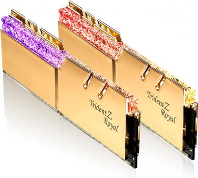 Оперативная память G.Skill DDR4-3200 16384MB PC4-25600 (Kit of 2x8192) Trident Z Royal Gold (F4-3200C16D-16GTRG)