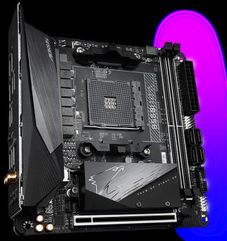 Материнська плата Gigabyte B550I Aorus Pro AX (sAM4, AMD B550, PCI-Ex16)