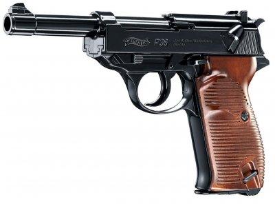 Пневматический пистолет Umarex Walther P38 черно-коричневый (5.8089)