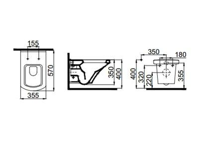 Чаша подвесного унитаза с сиденьем Soft Close IDEVIT Vega SETK2804-0606-001-1-10000