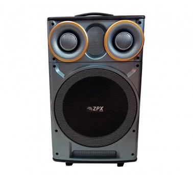 Портативна колонка Акустична система ZPX ZX7777 з мікрофоном на акумуляторі USB Bluetooth FM SD TF 120 Вт