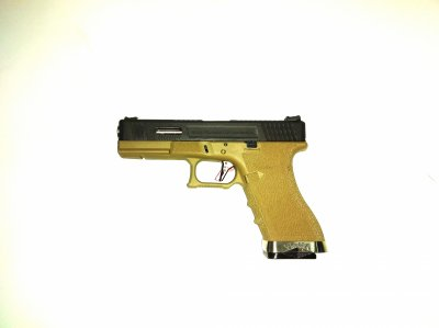 Пістолет WE Glock 17 Force pistol Metal Tan-Silver GBB (Страйкбол 6мм)