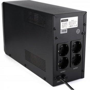 Джерело безперебійного живлення Vinga LCD 2000VA metall case (VPC-2000M)