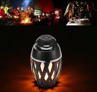 Бездротова колонка Flame Atmosphere Speaker з полум'яною підсвічуванням