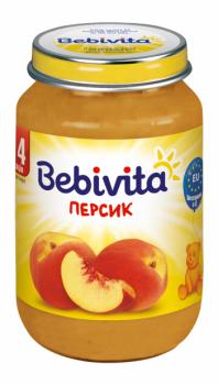 Фруктове пюре Bebivita Персик, 190 г (093253)