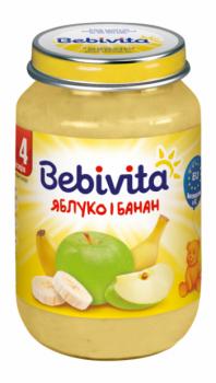 Фруктове пюре Bebivita Яблуко і банан, 190 г (093259)