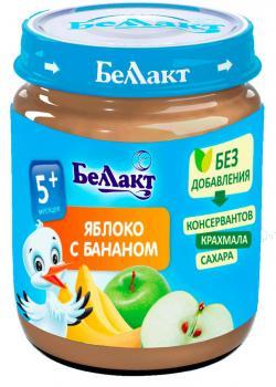 Пюре Беллакт Яблуко-банан, 100 г (250167)