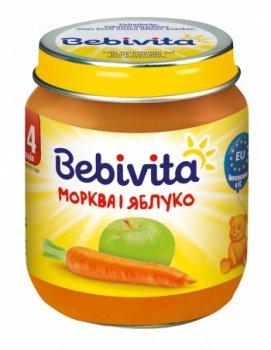 Пюре Bebivita Морква і яблуко, 125 г (093934)