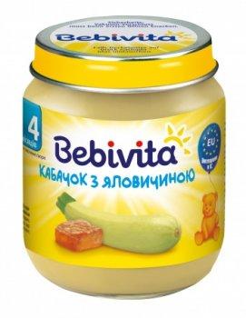 Пюре Bebivita Кабачок з яловичиною, 125 г (071364)