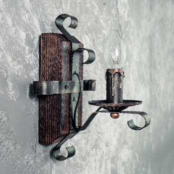 Бра дерев'яне Light House SRS-14094/1W коричневе