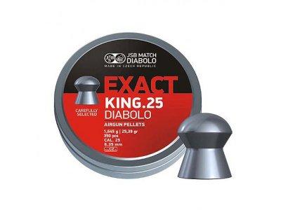 Пули пневматические JSB Diabolo Exact King, 350 шт/уп, 1,645 г, 6,35 мм