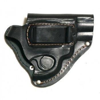 """Кобура поясная для револьвера 2,5"""" со скобой для скрытого ношения. Кожа."""
