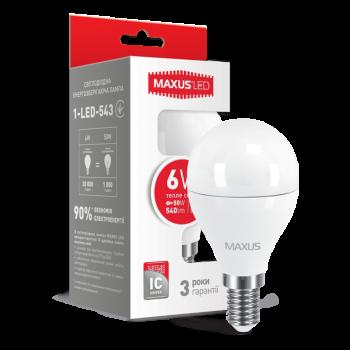 Лампа світлодіодна Maxus F 6 Вт G45 E14 220 В 3000 До матова