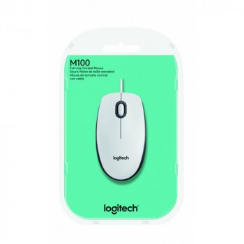 Мишка Logitech M100 L910-005004 white