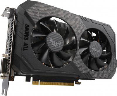 Asus PCI-Ex GeForce GTX 1650 Super TUF OC Gaming 4GB GDDR6 (128bit) (1530/12002) (DVI, HDMI, DisplayPort) (TUF-GTX1650S-O4G-GAMING)