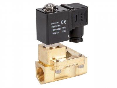 Клапан електромагнітний нормально-закритий Round Star ZW прямої дії (сідлової)