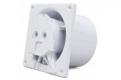 Вытяжной вентилятор AirRoxy dRim 100 TS BB Серый, с таймером.