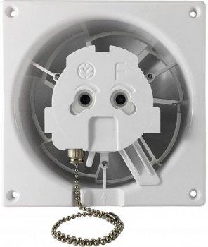 Вытяжной вентилятор AirRoxy dRim 100 PS BB Черное стекло матовый, с шнурковым выключателем.