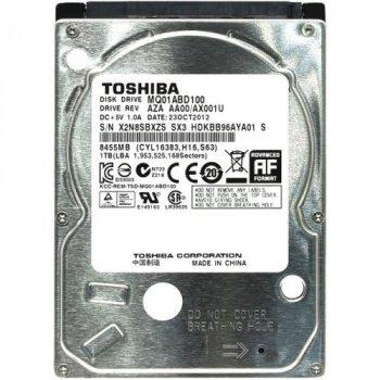 """Жорсткий диск для ноутбука Toshiba 1 TB (2.5"""", 8Mb, 5400 об/хв, 9.5 mm, SATA II, MQ01ABD100) Б/У"""