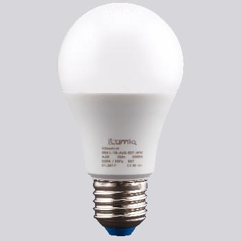 Світлодіодна лампа Ilumia 10Вт, цоколь Е27, 3000К (теплий білий), 1000Лм (006)