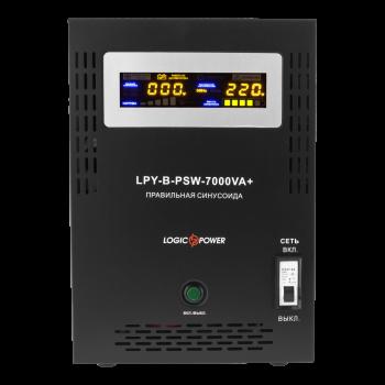 ДБЖ з правильною синусоїда LogicPower LPY-B-PSW-7000VA+(5000W)10A/20A 48V для котлів і аварійного освітлення