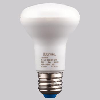 Світлодіодна лампа Ilumia рефлектор 8Вт, цоколь Е27, 3000К (теплий білий), 800Лм (016)