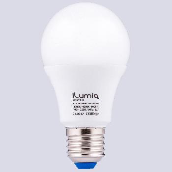 Світлодіодна лампа Ilumia з трьома типами температур світла 10Вт, цоколь Е27, 3000/4000/6000К (всі фази Сонця), 1000Лм (062)