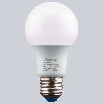 Світлодіодна лампа Ilumia 8Вт, цоколь Е27, 3000К (теплий білий), 800Лм (008)