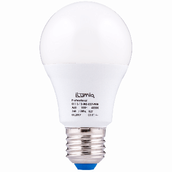 Світлодіодна лампа Ilumia низьковольтна 10Вт, 36В Цоколь Е27, 4000К (нейтральний білий), 1000Лм (011)