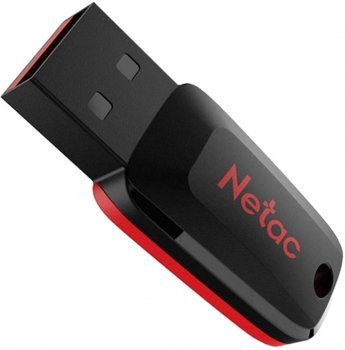 Netac U197 64GB USB 2.0 Black-Red (NT03U197N-064G-20BK)